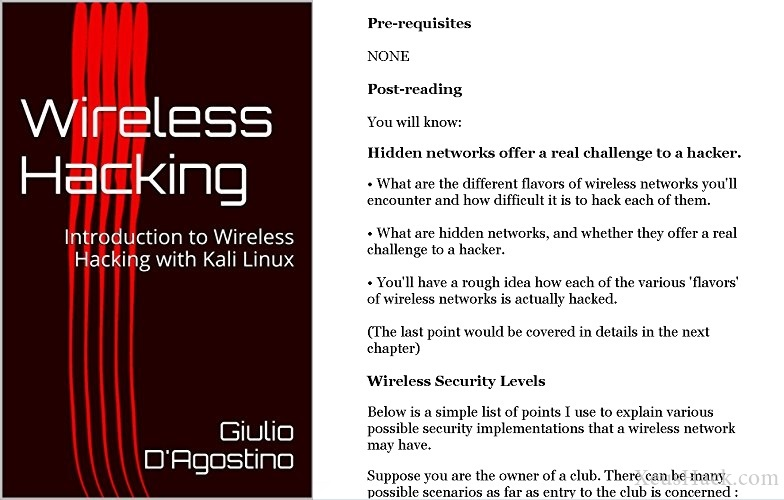 Book cover and review of Introduction to Wireless Hacking with Kali Linux