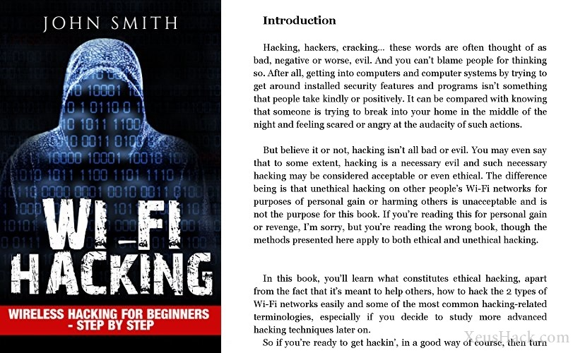 Book cover and review of Wireless Hacking for Beginners - step by step